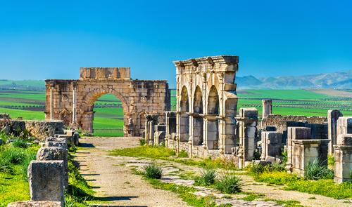The,Decumanus,Maximus,,The,Main,Street,Of,Volubilis,,A,Unesco