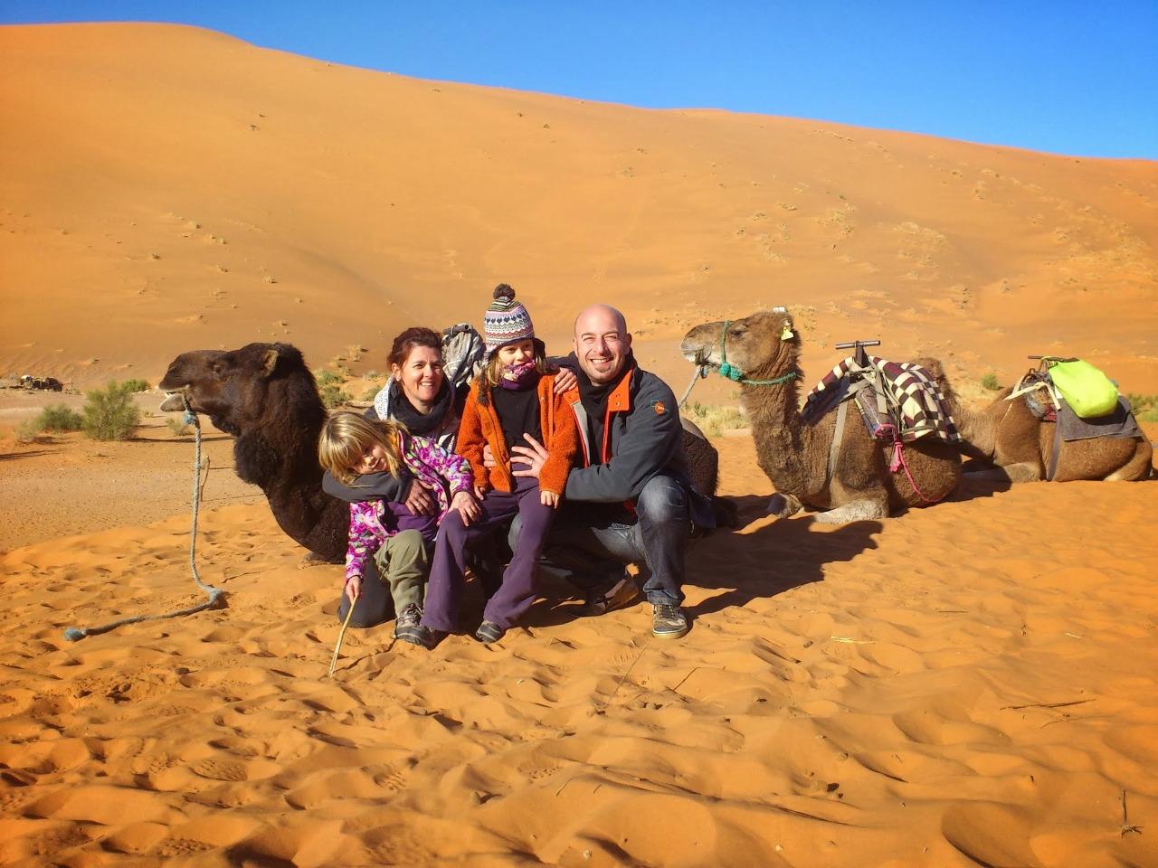 Marruecos desierto con niños